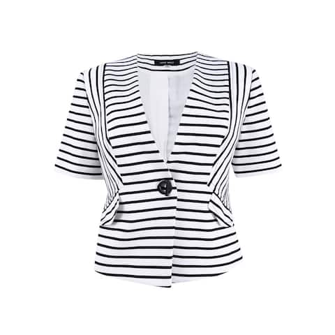 Nine West Women's Single-Button Striped Blazer