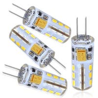 4-PACK AC/DC 12V-24V 1.5W Silicone Coated G4 LED Bulb-Warm White 360 Degree Omni-directional G4 Light Bulb