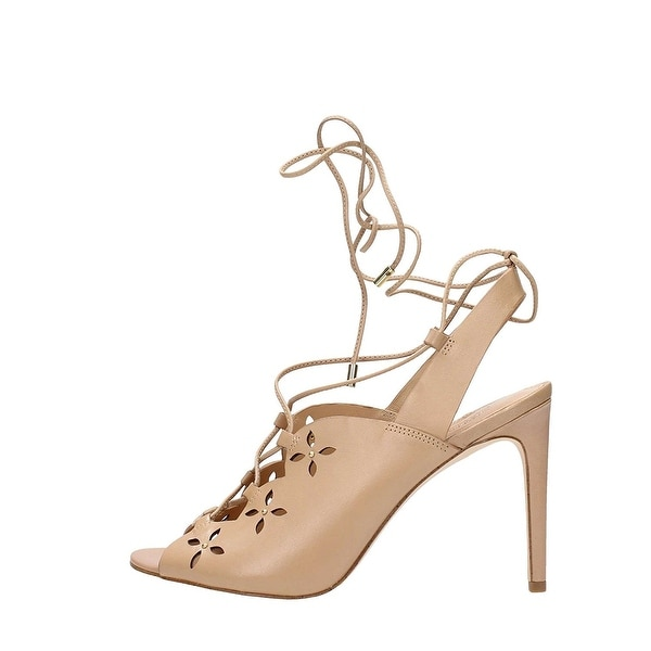 Michael Kors Thalia Lace-Up Dress Sandals (Toffee)