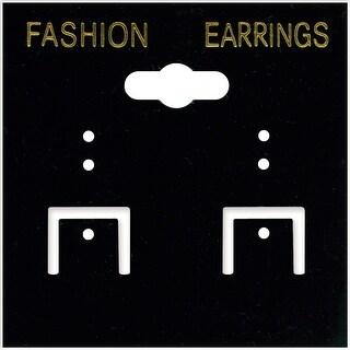 "Earring Cards 2""X2"" 100/Pkg-Black PVC - Black"