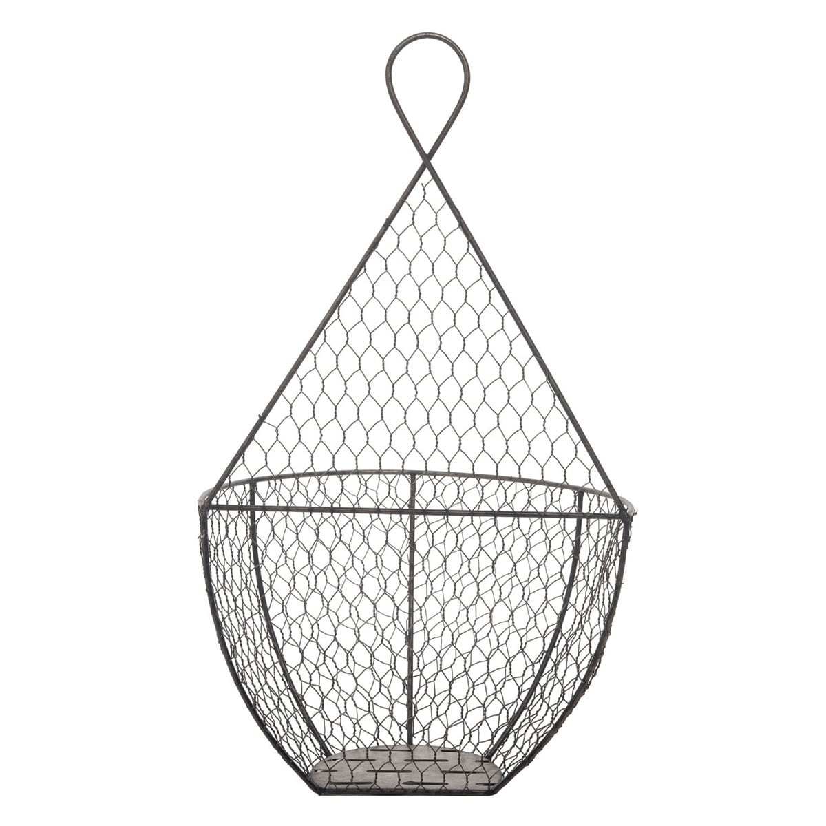 Foreside Home Garden Set Of 2 Metal Wire Hanging Wall Baskets 8 07x12 2x20 25 Overstock 25978620