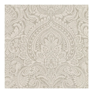 Link to Alistair Flax Damask Wallpaper - 20.5in x 396in x 0.025in Similar Items in Wall Coverings