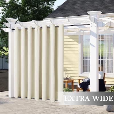 Pro Space Extra Wide Waterproof Outdoor Grommet Top Curtain Panel