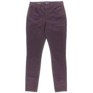 NYDJ Womens Alina Mid-Rise Lift Tuck Technology Denim Leggings - 4