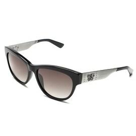 John Galliano Women's Classic Style Sunglasses Black/Silver - Clear - Small