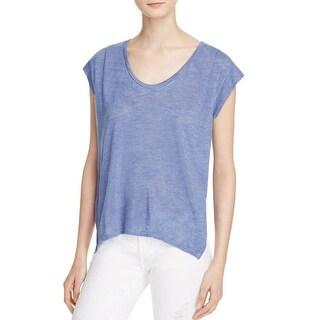 Velvet Womens Denya T-Shirt Drape Short Sleeve