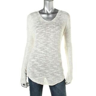 Helmut Lang Womens Silk Slub Tunic Sweater - M