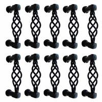 10 Drawer Pull Cabinet Birdcage Black Wrought Iron 3 1/2 | Renovator's Supply