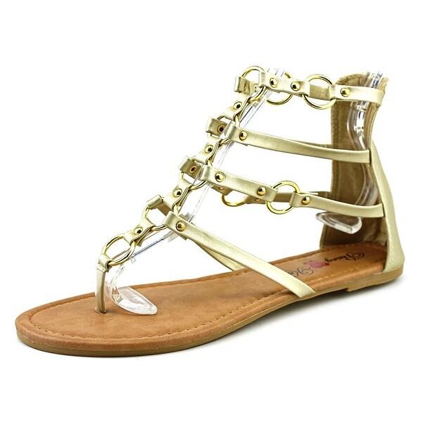 Penny Loves Kenny Matrix Women Open Toe Synthetic Gold Gladiator Sandal