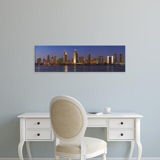 Easy Art Prints Panoramic Images's 'Buildings at the waterfront, San Diego, California, USA' Premium Canvas Art