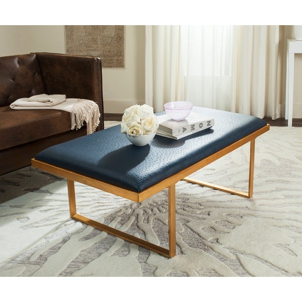 """SAFAVIEH Millie Loft Navy/Gold Coffee Table - 48"""" x 28"""" x 18"""". Opens flyout."""