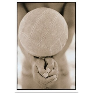Poster Print entitled Volleyball Close-Up - multi-color