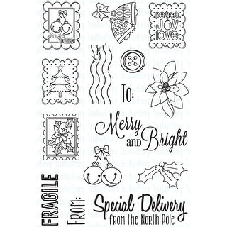 """Your Next Stamp Clear Stamps 4""""X6""""-Holiday Postage"""