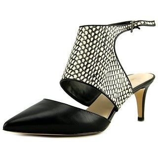 Nine West Salinda Women Pointed Toe Leather Black Slingback Heel