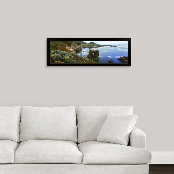 """Coastline, Garrapata State Park, Monterey, California"" Black Framed Print"