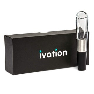 Link to Ivation Wine Aerator in Gift Box – Premium Wine Aerating Pourer Spout Decanter Gadget with Gift Box – 1 Pack - Clear Similar Items in Glasses & Barware