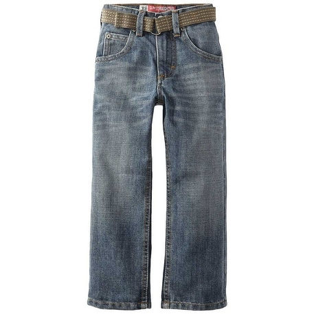 Lee Boys Dungarees Belted Slim Straight Leg Jeans - mason