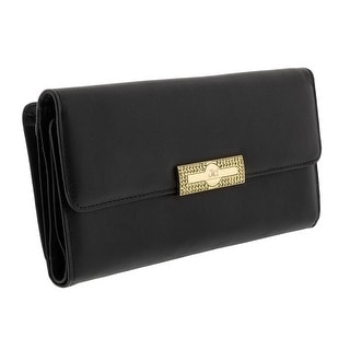 Jacky&Celine J23-005-001 Black Large Multifunction Wallet
