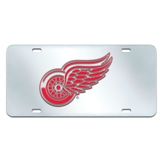 """NHL - Detroit Red Wings License Plate-Inlaid - 6"""" x 12"""""""