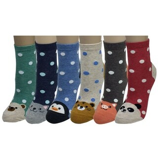 Women Girl Cartoon Animal Design Lovely Novelty Casual Cotton Socks