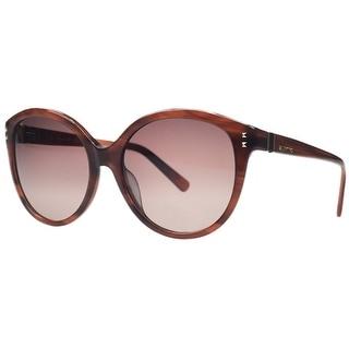 Valentino V 626/S 236 Brown Round Sunglasses