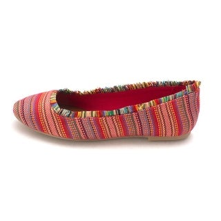 MIA Womens Belinda Fabric Closed Toe Slide Flats