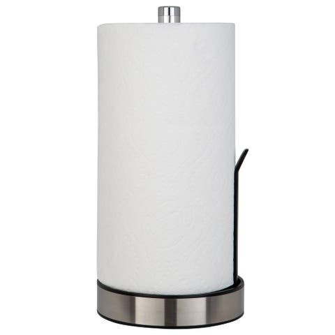 Kitchen Details Paper Towel Holder with Deluxe Tension Arm in Black