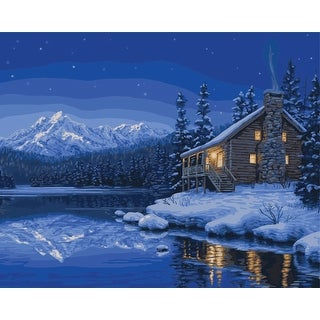 """Paint By Number Kit 16""""X20""""-Quiet Camp"""