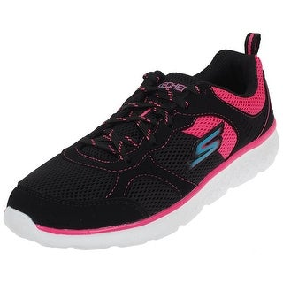 Skechers Girl's Gorun 400, Running, Black/Hot Pink