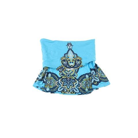 Inc International Concepts Turquoise Paisley Convertible Mini Skirt XL