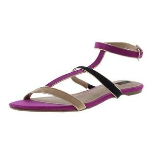 Zara Womens Metallic Stappy Slide Sandals
