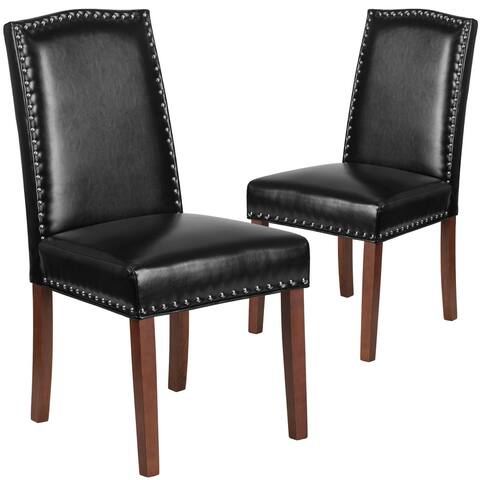 Parsons Chair with Silver Nailhead Trim (Set of 2)