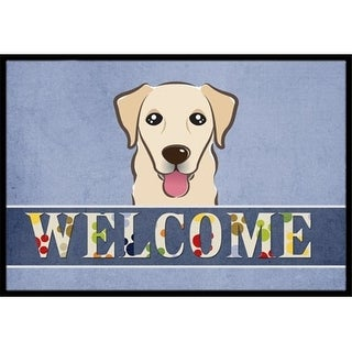 Carolines Treasures BB1438MAT Golden Retriever Welcome Indoor & Outdoor Mat 18 x 27 in.