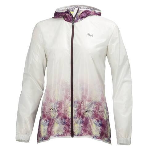 Helly Hansen Women's ASPIRE Rain Jacket, White/Princess Purple, S