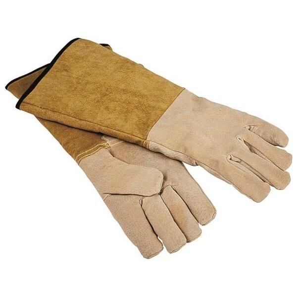 "Homebasix CPA03110MM3L Pigskin Fireplace Gloves, 16"""