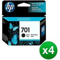 HP 701 Black Original Ink Cartridge (CC635A)(4-Pack)