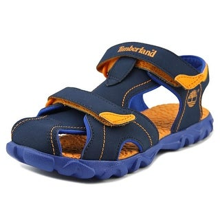 Timberland Splashtown Youth Round Toe Canvas Blue Fisherman Sandal