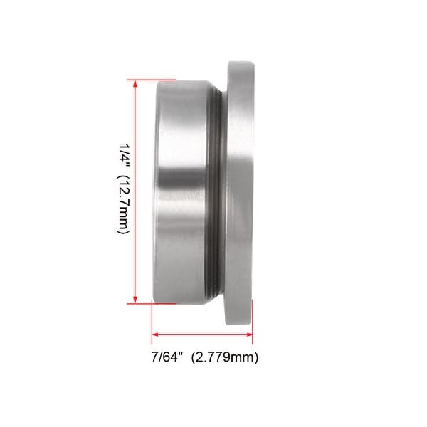 FR2-5ZZ 1//8x5//16x9//64 inch Miniature Metal Bearing Flanged Ball Bearing 5 PCS