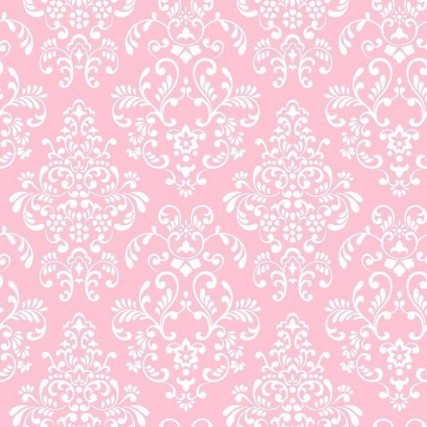 York Wallcoverings Kd1754 Delicate Document Damask Wallpaper Pink White