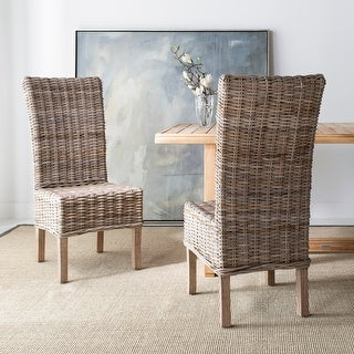 """Link to Safavieh Dining Rural Woven Quaker Unfinished Natural Wicker Dining Chairs (Set of 2) - 18.5"""" x 22.8"""" x 42.1"""" Similar Items in Dining Room & Bar Furniture"""