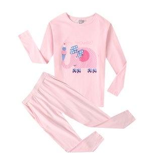 Richie House Girls' Pink Soft Cotton Sleepwear Set