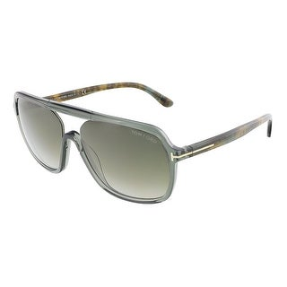 Tom Ford FT0442/S 96B ROBERT Dark Shiny Green Crystal Square sunglasses