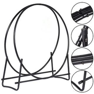 Costway 40-Inch Tubular Steel Log Hoop Firewood Storage Rack Holder Round Display|https://ak1.ostkcdn.com/images/products/is/images/direct/cc6c353f0bc8444ce0fa6aa10791aa343a7264e8/Costway-40-Inch-Tubular-Steel-Log-Hoop-Firewood-Storage-Rack-Holder-Round-Display.jpg?impolicy=medium