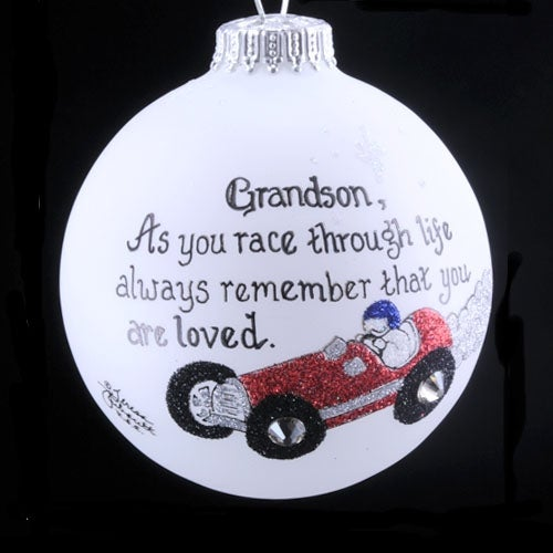 Grandson Race Car Ornament