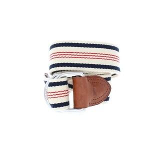 Polo Ralph Lauren Mens Casual Belt Knit Striped - L