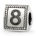 Sterling Silver Reflections Number 8 Triangle Block Bead (4mm Diameter Hole) - Thumbnail 0