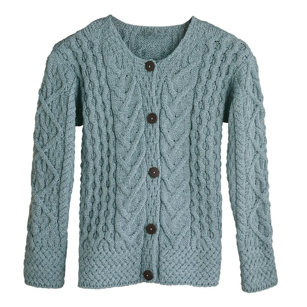 79ee5f000528e0 Shop Women s Button Down Sweater - Aileen Aran Cardigan - On Sale - Free  Shipping Today - Overstock - 18283271