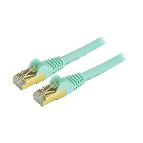 Startech - C6aspat14aq 14Ft Cat6a Aqua Ethernet Stpncable