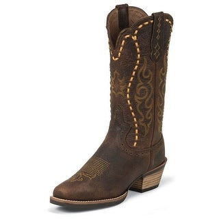 Justin Western Boots Womens Silver Kettle Buffalo Copper SVL7313