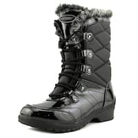 Khombu Avon Women Black Snow Boots
